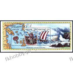 Wyspy Owcze 2002 Mi BL 12 ** Statek Okręt Wiking Flora
