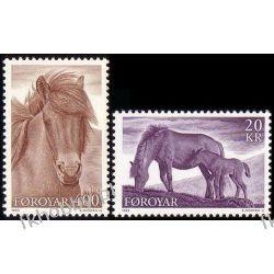 Wyspy Owcze 1993 Mi 250-51 ** Koń Konie San Marino