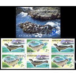 Wyspy Owcze 1992 MH 5 ** Foki Pozostałe