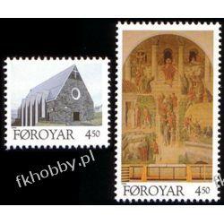Wyspy Owcze 1996 Mi 308-09 ** Kościół Klaksvik Flora