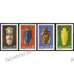Wyspy Owcze 1995 Mi 272-75 ** Cykady Owady Owady
