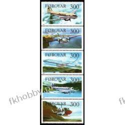 Wyspy Owcze 1985 Mi 125-29 zd ** Samolot Lotnictwo