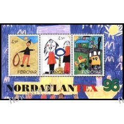 Wyspy Owcze 1996 Mi BL 8 ** Rysunki Dzieci