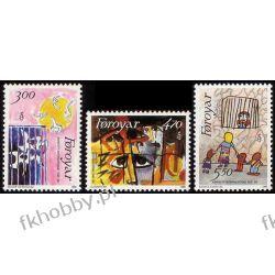 Wyspy Owcze 1986 Mi 136-38 ** Amnesty International Marynistyka