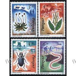 Wyspy Owcze 1991 Mi 211-14 ** Zwierzęta Rośliny Flora