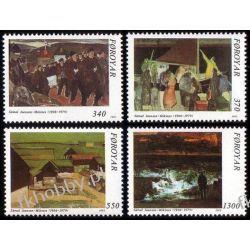 Wyspy Owcze 1991 Mi 223-226 ** Malarstwo Pozostałe