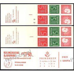 Szwecja 1966 MH 11ab/D x2 ** Czesław Słania Liechtenstein
