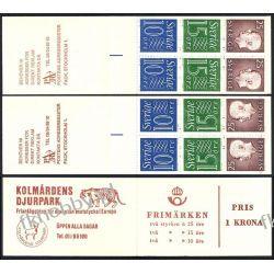 Szwecja 1965 MH 9 ab/C x2 ** Czesław Słania Druk wklęsły
