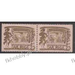 Szwecja 1966 Mi 556 dl/dr ** Folklor Czesław Słania