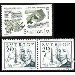 Szwecja 1982 Mi 1187-88 AD ** Europa Cept Celsius Gady i Płazy