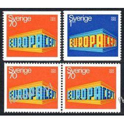 Szwecja 1969 Mi 634-35 AD ** Europa Cept Pozostałe