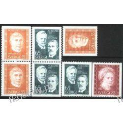 Szwecja 1971 Mi 734-36 ** Nagroda Nobla Skłodowska Curie Pozostałe