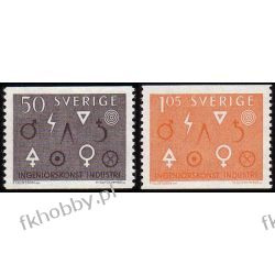 Szwecja 1963 Mi 506-07 A ** Geometria Flora