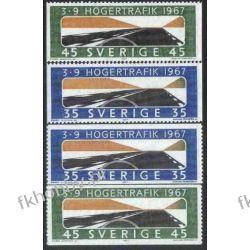 Szwecja 1967 Mi 588-89 ** Motoryzacja Autostrada