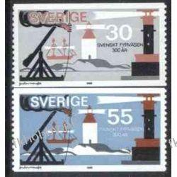 Szwecja 1969 Mi 655-56 ** Latarnia Morska Statek Pozostałe