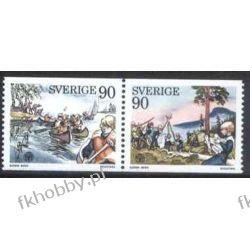 Szwecja 1975 Mi 921-22 zd ** Harcerstwo