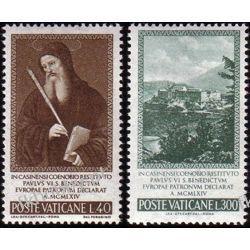 Watykan 1965 Mi 481-82 ** Św Benedytk Europa Cept