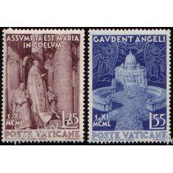 Watykan 1951 Mi 178-79 ** Papież