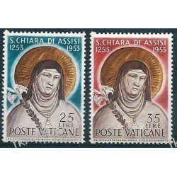 Watykan 1953 Mi 207-08 ** Święta Klara Pozostałe