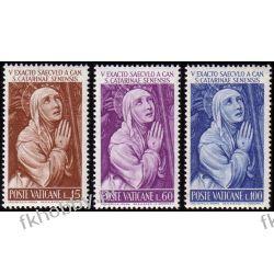 Watykan 1962 Mi 402-04 ** Święta Katarzyna Marynistyka