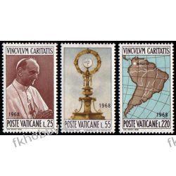 Watykan 1968 Mi 538-40 ** Paweł VI Papież Mapa Polskie