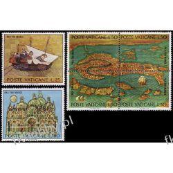 Watykan 1972 Mi 599-04 ** UNESCO Mapa Statek Pozostałe