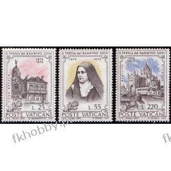 Watykan 1973 Mi 618-20 ** Święta Teresa Kwiaty