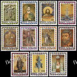 Watykan 1974 Mi 646-56 ** Jezus Chrystus św Piotr