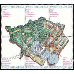 Watykan 1986 Mi 883-88 zd ** Mapa Kartografia Flora