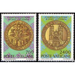 Watykan 1987 Mi 911-12 ** Chrześcijaństwo Łotwa Malarstwo