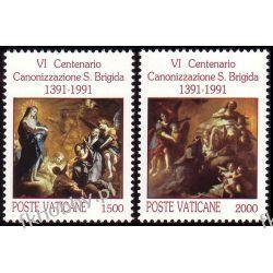 Watykan 1991 Mi 1038-39 ** Święta Brygida Pozostałe