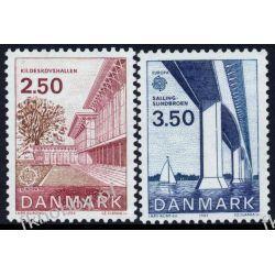 Dania 1983 Mi 781-82 ** Słania Europa Cept Most Pozostałe