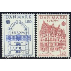 Dania 1978 Mi 662-63 ** Czesław Słania Europa Cept Liechtenstein