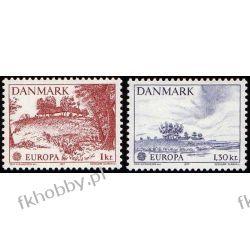 Dania 1977 Mi 639-40 ** Czesław Słania Europa Cept Marynistyka