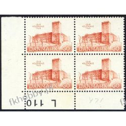 Dania 1968 Mi 468 x4 ** Czesław Słania Zamek a Malarstwo