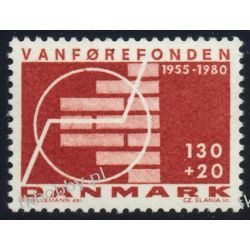 Dania 1980 Mi 698 ** Czesław Słania Druk wklęsły