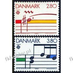 Dania 1985 Mi 835-36 ** Europa Cept Muzyka Pozostałe