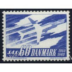 Dania 1961 Mi 388 ** Europa Cept Samolot Lotnictwo