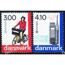 Dania 1988 Mi 921-22 ** Europa Cept Rower Telefon Motoryzacja