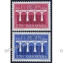 Dania 1984 Mi 806-07 ** Europa Cept Most Druk wklęsły
