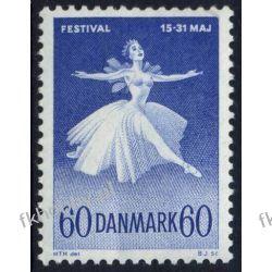 Dania 1962 Mi 403 ** Muzyka Balet Grafika