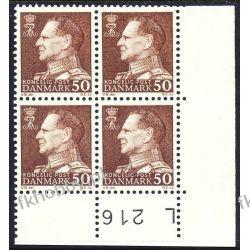 Dania 1967 Mi 457 x4 ** Król Fryderyk IX Flora