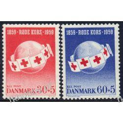 Dania 1959 Mi 375-76 ** Czerwony Krzyż Medycyna Pozostałe