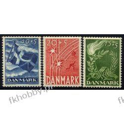 Dania 1947 Mi 295-97 ** Wojna Kolej Pozostałe