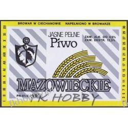 Polska Browar Ciechanów Etykieta Mazowieckie 48.1 Birofilistyka