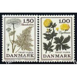 Dania 1977 Mi 653-54 ** Kwiaty Flora Polskie