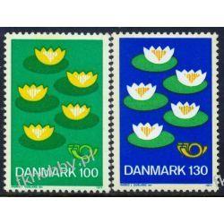 Dania 1977 Mi 635-36 ** Europa Cept Kwiaty Pozostałe