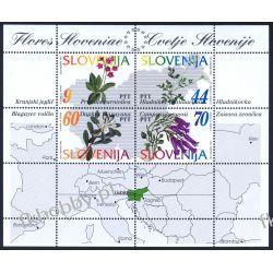 Słowenia 1994 Mi BL 1 ** Kwiaty Mapa Pozostałe
