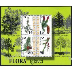 Słowenia 1998 Mi BL 7 ** Drzewa Nasiona Pozostałe