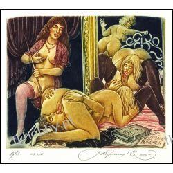 Kirnitskiy Sergey 2005 Exlibris C4 Erotic Erotik Nude Nudo Woman Sex Mirror 107 Antyki i Sztuka